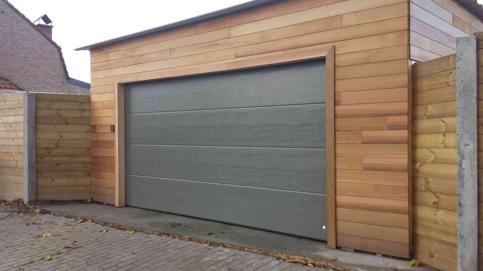 Porte De Garage Sectionnelle à Comines Lille Tournai Mouscron - Porte de garage sectionnelle avec panneau de porte pvc