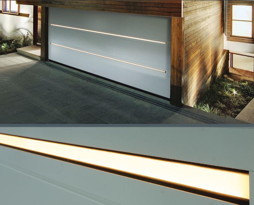 Garagedeur met LED
