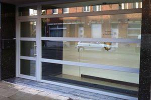 Grande fenêtre PVC fixe dans ensemble pour entrée