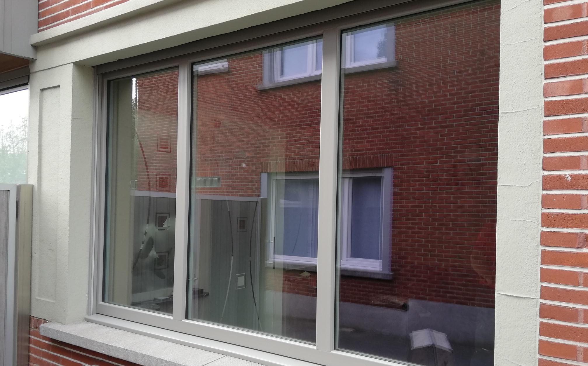 Peindre Fenetre Pvc En Gris fenêtres pvc - haute isolation | opsomer & delmotte